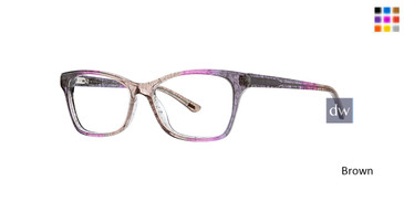 Brown Xoxo Hemming Eyeglasses.