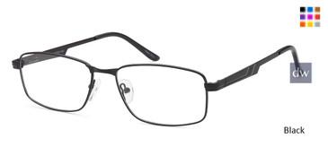 Black CAPRI PT100 Eyeglasses