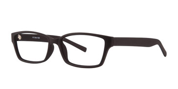 Black Rubber Matt Vivid Soho 1020 Eyeglasses.
