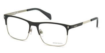 Matte Black Diesel DL5151 Eyeglasses.