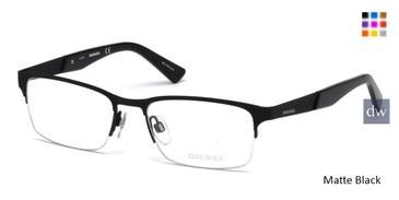 Matte Black Diesel DL5235 Eyeglasses.