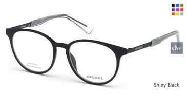 Shiny Black Diesel DL5289 Eyeglasses.