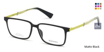 Matte Black Diesel DL5290 Eyeglasses.