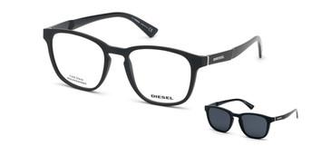 Matte Black Diesel DL5334 Eyeglasses.