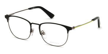 Matte Black Diesel DL5354 Eyeglasses.