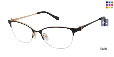 Black Tura By Lara Spencer LS125 Eyeglasses - Teenager.