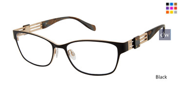 Black Tura By Lara Spencer LS124 Eyeglasses.