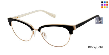 Black/Gold Tura By Lara Spencer LS123 Eyeglasses.