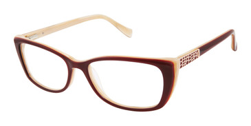 Burgundy Tura By Lara Spencer LS122 Eyeglasses.