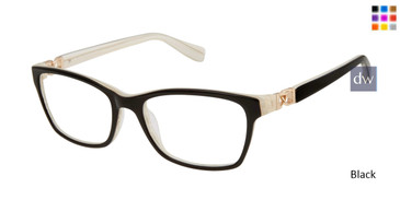 Black Tura By Lara Spencer LS121 Eyeglasses.