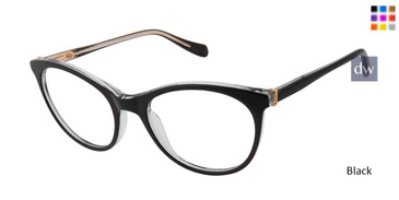Black Tura By Lara Spencer LS115 Eyeglasses -  Teenager.