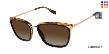 Black/Gold Tura By Lara Spencer LS522 Sunglasse.