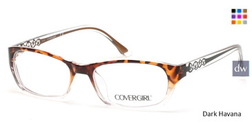 Dark Havana Cover Girl CG0510 Eyeglasses.