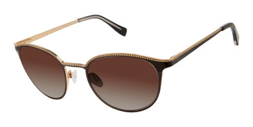 Black/Gold Tura By Lara Spencer LS521 Sunglasses.