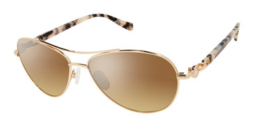 Gold Tura By Lara Spencer LS517 Sunglasses.