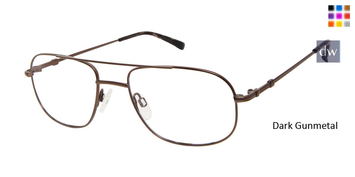 Dark Gunmetal Titan Flex M987 Eyeglasses.
