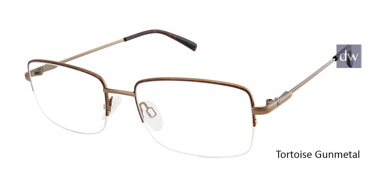 Tortoise Gunmetal Titan Flex M986 Eyeglasses.