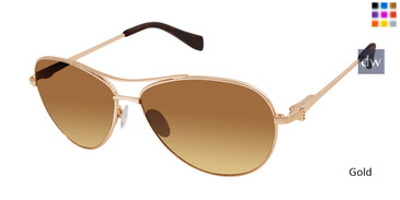 Gold Tura By Lara Spencer LS509 Sunglasses.