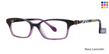 Navy Lavender Lilly Pulitzer GIRLS RX Chasteen Eyeglasses - Teenager