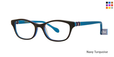 Navy Turquoise Lilly Pulitzer GIRLS RX Kaelie Eyeglasses