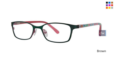 Brown Lilly Pulitzer GIRLS RX Maia Eyeglasses - Teenager