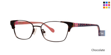 Chocolate Lilly Pulitzer GIRLS RX Sheldrake Eyeglasses
