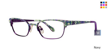 Navy Lilly Pulitzer GIRLS RX Tully Eyeglasses