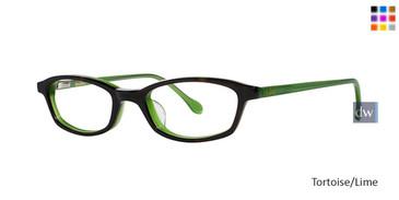 Tortoise Lime Lilly Pulitzer GIRLS RX Stefe Eyeglasses