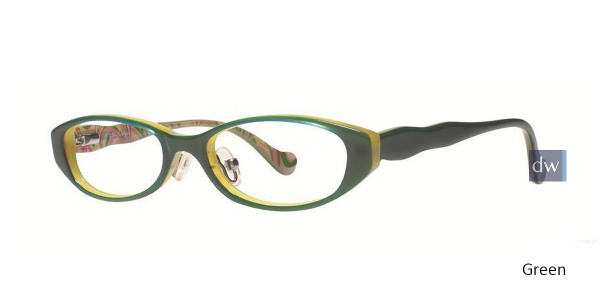 Green Lilly Pulitzer GIRLS RX Darleene Eyeglasses