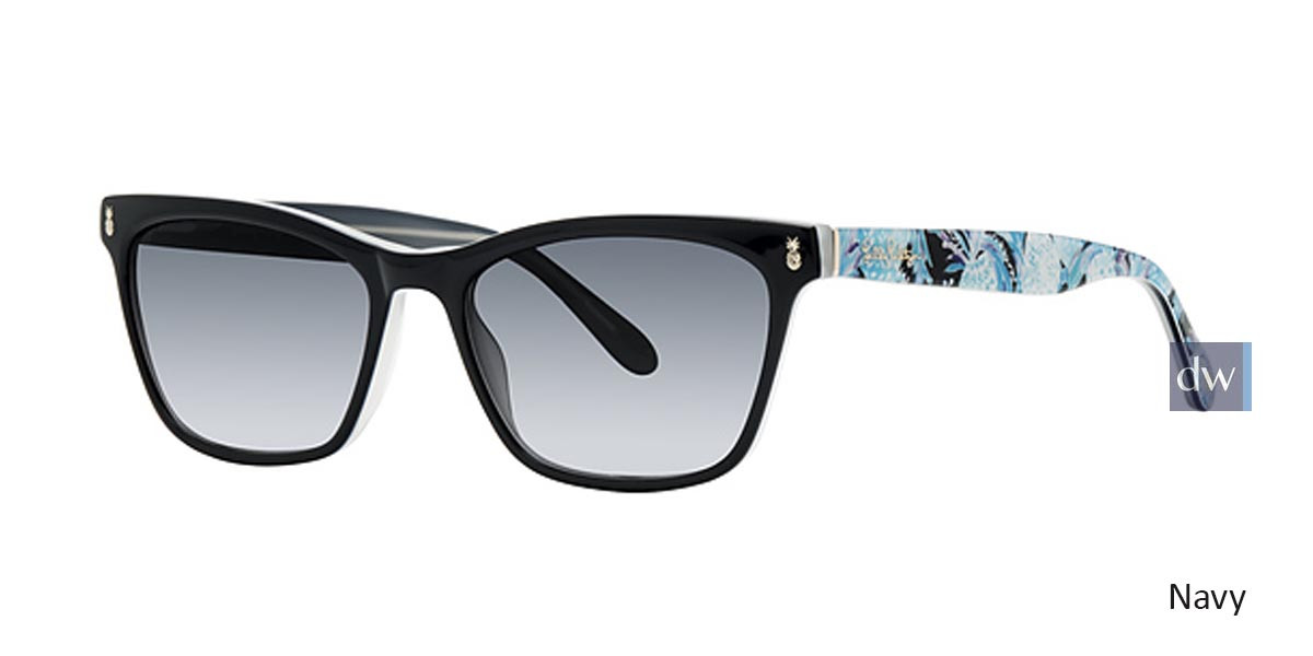 Navy Lilly Pulitzer Lucca Sunglasses