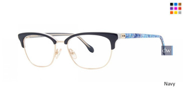 Navy Lilly Pulitzer RX Crawford Eyeglasses