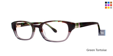 Green Tortoise Lilly Pulitzer RX Alanis Eyeglasses - Teenager