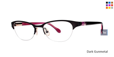 Dark Gunmetal Lilly Pulitzer RX McCoy Eyeglasses - Teenager