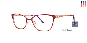 Dark Rose Dana Buchman Phylis Eyeglasses