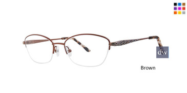 Brown Dana Buchman Dusty Eyeglasses