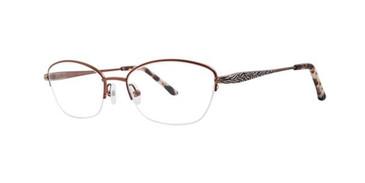 Brown Dana Buchman Dusty Eyeglasses.