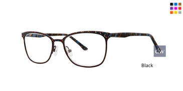Black Dana Buchman Bluebell Eyeglasses