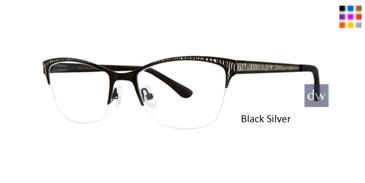 Black Silver Dana Buchman Cordelia Eyeglasses
