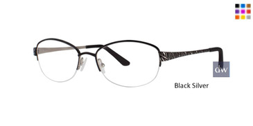 Black Silver Dana Buchman Eugenia Eyeglasses