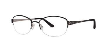 Black Silver Dana Buchman Eugenia Eyeglasses.
