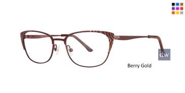 Berry Gold Dana Buchman Glennora Eyeglasses