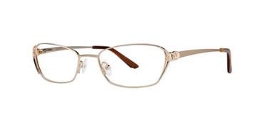 Gold Dana Buchman Isha Eyeglasses.