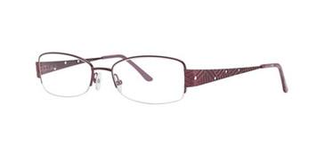 Raspberry Dana Buchman Kishi Eyeglasses.