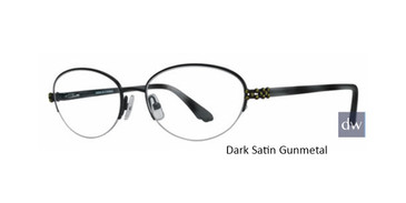 Dark Satin Gunmetal Dana Buchman Julia Eyeglasses -Teenager