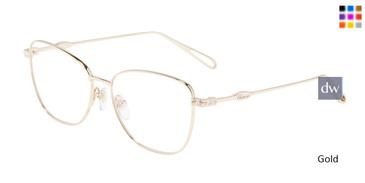 Gold chopard VCHD52S Eyeglasses.