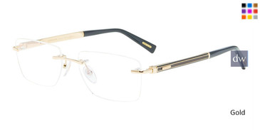 Gold Chopard VCHD62 Eyeglasses.
