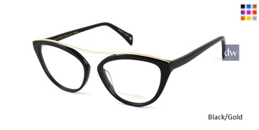 Black/Gold William Morris Black Label BLCHARLEY Eyeglasses