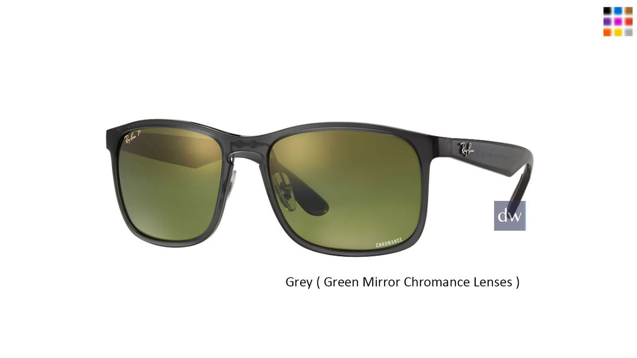 Grey ( Green Mirror Chromance Lenses ) Ray Ban RB4264 Chromance Sunglasses