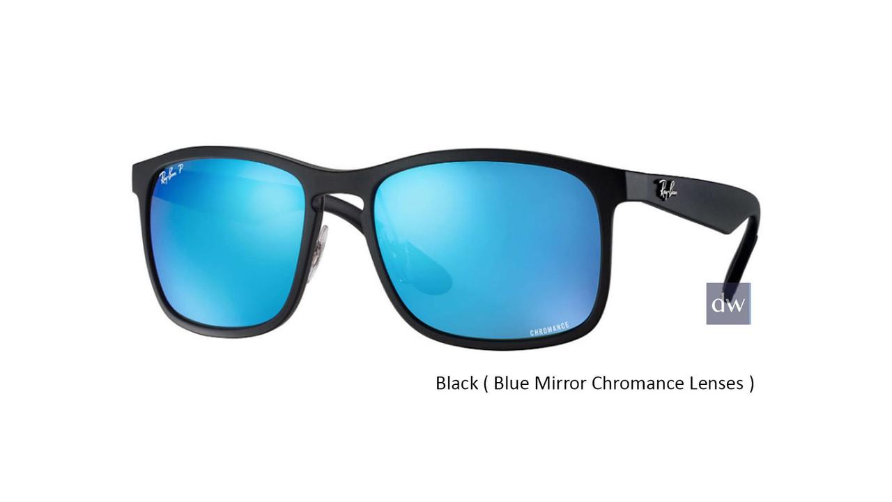 Black ( Blue Mirror Chromance Lenses ) Ray Ban RB4264 Chromance Sunglasses