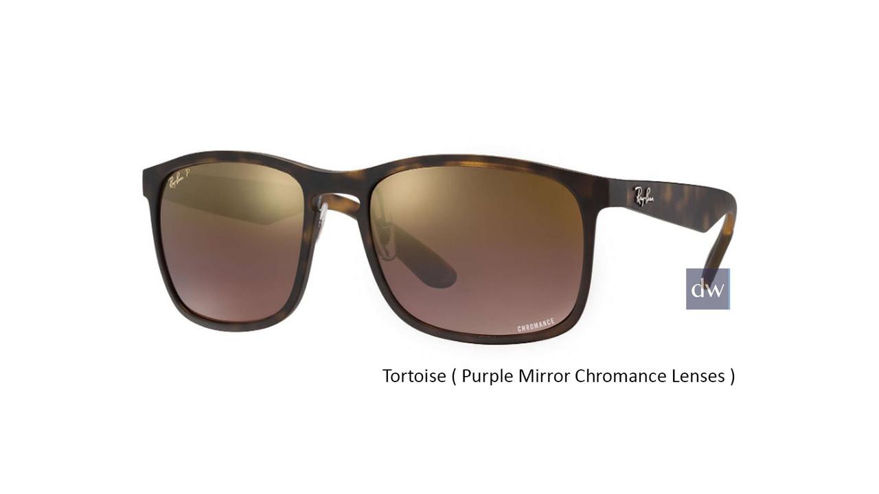 Tortoise ( Purple Mirror Chromance Lenses )  Ray Ban RB4264 Chromance Sunglasses